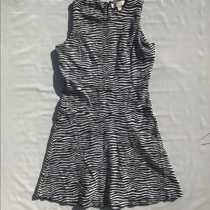 MICHEAL Kors Zebra Print Aline Knot Dress Small